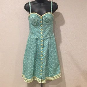 Vintage Betsey Johnson Retro Polka Dot Dress 8